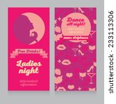 pink template for ladies night... | Shutterstock .eps vector #233113306