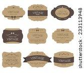 set of vintage label and badges ... | Shutterstock .eps vector #233113948
