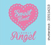 girl love angel typography  t... | Shutterstock .eps vector #233116213