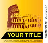 Colosseum Vector Background