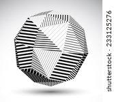 symmetric spherical 3d vector... | Shutterstock .eps vector #233125276