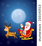 illustration of santa in his... | Shutterstock . vector #233143513
