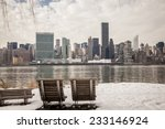 winter in new york city. empty... | Shutterstock . vector #233146924