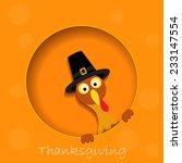 happy thanksgiving turkey  | Shutterstock .eps vector #233147554