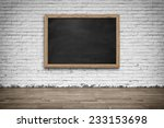 Blank Black Chalkboard In...