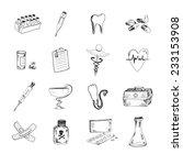 medical set. hand drawn doodle... | Shutterstock .eps vector #233153908