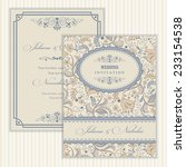 invitation card with flowers in ...   Shutterstock .eps vector #233154538