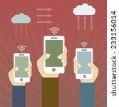 social media network poster... | Shutterstock .eps vector #233156014