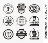 vector set of coffee shop logos ... | Shutterstock .eps vector #233157679