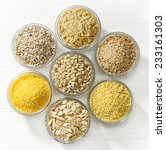 Various Types Of Cereal Grains...