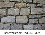 Small photo of pattern of rough grey unregular stone wall texture