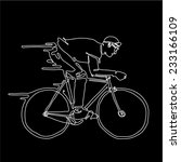 illustrate of a man rides a... | Shutterstock .eps vector #233166109