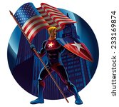 superhero with the american...   Shutterstock .eps vector #233169874