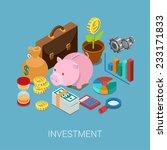 Flat 3d Isometric Investment ...
