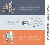 flat style mobile e commerce... | Shutterstock .eps vector #233171920
