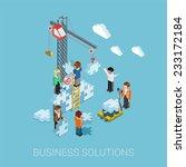 flat 3d isometric business... | Shutterstock .eps vector #233172184
