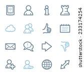 social media web icons | Shutterstock .eps vector #233174254
