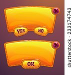 orange cartoon panels for game...