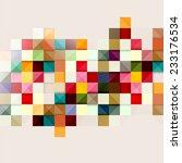 multicolored geometric... | Shutterstock .eps vector #233176534