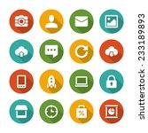 flat icons vector set and long... | Shutterstock .eps vector #233189893