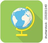 globe  modern flat icon with... | Shutterstock .eps vector #233201140