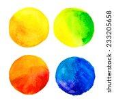 colorful bright watercolor... | Shutterstock . vector #233205658