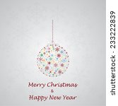 christmas_greeting_card_made_fro... | Shutterstock .eps vector #233222839