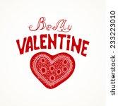 vector illustration. lettering  ... | Shutterstock .eps vector #233223010