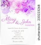 wedding invitation template... | Shutterstock .eps vector #233223268
