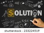 solution concept on blackboard... | Shutterstock . vector #233224519