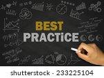 best practice concept on... | Shutterstock . vector #233225104