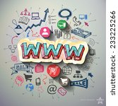 internet marketing collage with ...   Shutterstock .eps vector #233225266