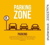 parking design over yellow... | Shutterstock .eps vector #233237974