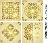 set of template of seamless... | Shutterstock .eps vector #233242453