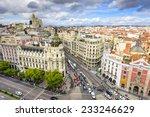 madrid  spain cityscape above... | Shutterstock . vector #233246629