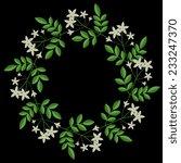 wreath with decorative vector... | Shutterstock .eps vector #233247370