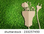 paper cut of eco on green grass | Shutterstock . vector #233257450