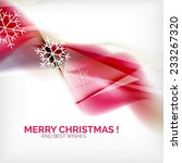 pink color christmas blurred... | Shutterstock .eps vector #233267320