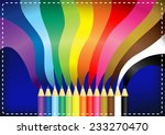 pencils color and rainbow on...   Shutterstock .eps vector #233270470