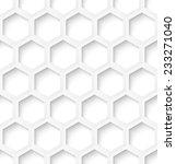 white paper hexagon abstract... | Shutterstock .eps vector #233271040
