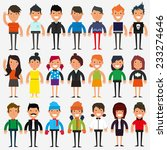 casual set characters for use... | Shutterstock .eps vector #233274646