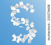 letter s composed by paper on... | Shutterstock . vector #233276608
