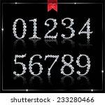 diamond numbers | Shutterstock .eps vector #233280466