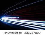 light tralight trails in tunnel.... | Shutterstock . vector #233287000