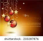 merry christmas card with red... | Shutterstock .eps vector #233287876