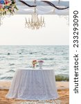 table for wedding ceremony on... | Shutterstock . vector #233293090