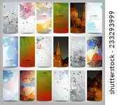 big colored abstract banners... | Shutterstock .eps vector #233293999