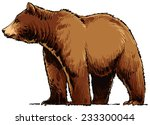 grizzly bear | Shutterstock .eps vector #233300044