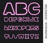 set of neon letters  vector | Shutterstock .eps vector #233301760