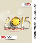 vector flyer for new year and... | Shutterstock .eps vector #233303020